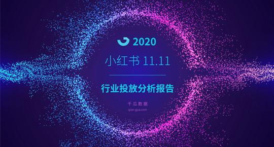 千瓜数据太好抱:《2020年小红书双11行业投放报告 》